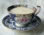 Scented Blue Mis-Matched Vintage Tea Cup Candle