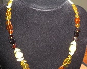 Triple Moon Amber necklace