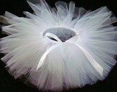 TUTU in White -- CUSTOM ODERS (choose your colors and size)