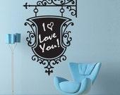 Chalkboard Decal Sticker - Vintage Hanging Sign - menu board