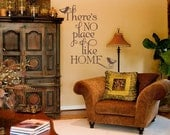 There's No Place Like Home - Vinyl Wall Decal Sticker Art