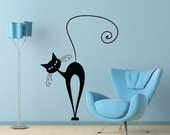 Vinyl Wall Decal Sticker Art - What's New Pussy Cat -  cat decal