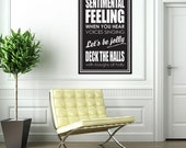 Deck the Halls - Wall Decal Sticker - Christmas home decor