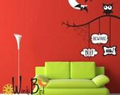 Boo Beware Eek - Halloween wall decal Decorations - 2 color version