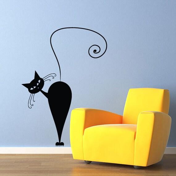 Cat wall Decal - Sticker Art