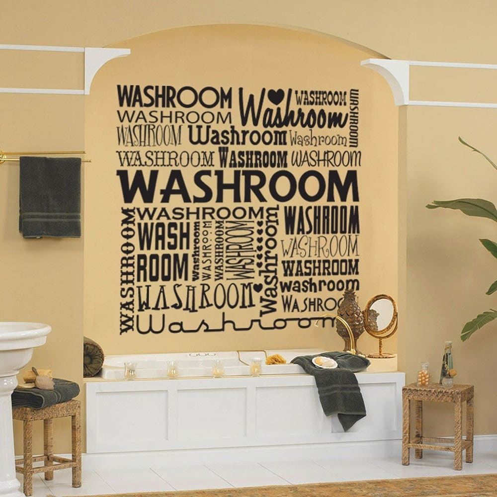 Vinyl Wall Decal Sticker Art Washroom Funky by ...