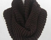 Chunky  Cowl,  Neckwarmer, Circle Scarf,Slouch, Cowl,  UNISEX, Dark Brown, Mocca,Seal brown, Chocolate, Maroon, Brown
