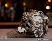 Brooch Bouquet - Custom Large Art Deco Crystal and Marcasite - 1920s Style