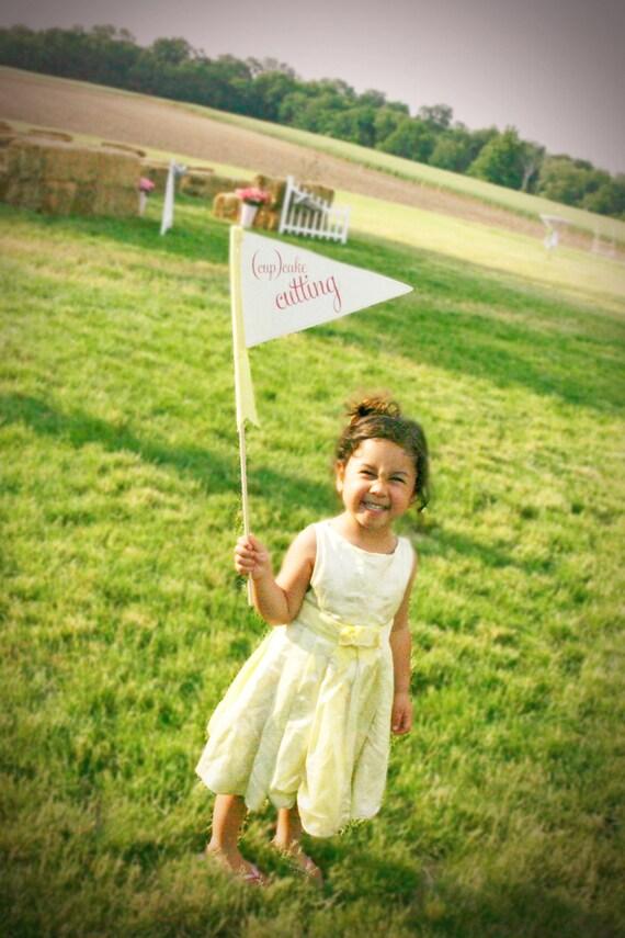 Custom Bouquet Toss Pennant Flag For Your Flower Girl or Ring Bearer