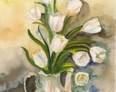 BOX OF 4 FLORAL NOTE CARDS  from Original Watercolor Paintings