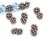 Grape Cluster Beads Sterling Silver 5mm