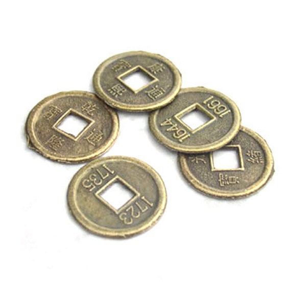 Chinese Coin Replica Brass Color 16mm pack of 20