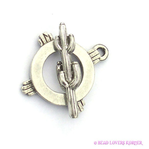 Southwest Cactus Clasmeyer Toggle Clasp Sterling Silver