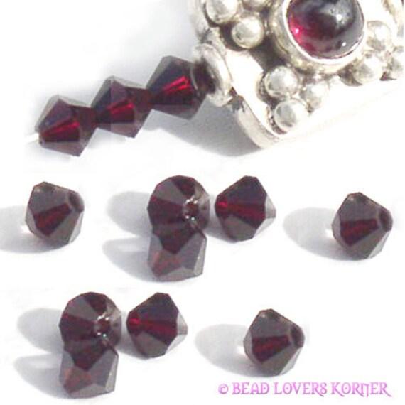 Custom order for Valerie - Swarovski Crystal Beads 5301 Bicone 4mm (48)