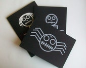 Zombie Note Cards- Set of 3