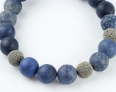 Blue Necklace Dumortierite Bali Silver