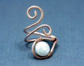 Ring - Copper and Pearl Teardrop
