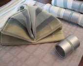 Upcycled Cloth Napkins - Silver Sea
