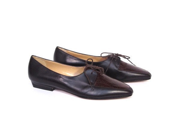 Vintage 90s PREPPY Chic Perry Ellis Low Ankle Oxfords womens 9