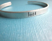 Jedi Bracelet Hand Stamped Personalized Bracelet by TheCopperFox
