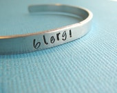 Blerg 30 Rock Liz Lemon Bracelet Hand Stamped by The Copper Fox