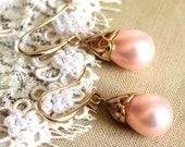 Champagne pearls - real 14 Gf  Mjorica pearls