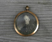 Vintage Rolled Gold Photo Locket with Original photos
