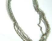 Labyrinth II - vintage multichain necklace