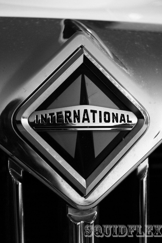 International Truck Logo 8X10 Black and White Fine by ...