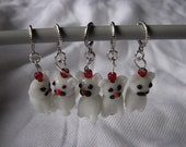 Cat stitch markers for knitting