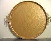 golden vintage vanity tray
