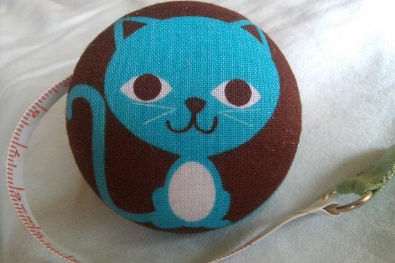 Funky Blue Cat Tape Measure