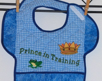 PRINCE IN TRAINING, Bib with Attitude for Toddler Boy