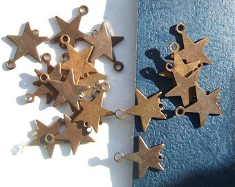 "BWB Handful of Brass Celestial Starry Starry Pendant Dangles Connectors   5/8""   (25 pcs)"