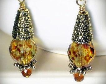 Earrings, Bollywood Sunshine