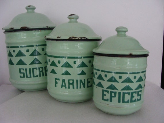 French Kitchen Canisters From Paris By MaBeautique On Etsy