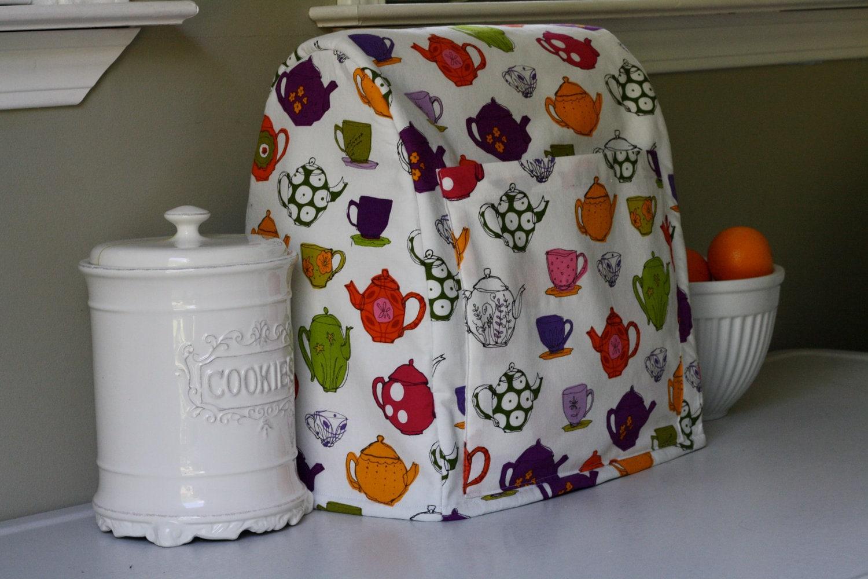 KitchenAid Stand Mixer Cover Cozy Tea Pots and Teacups