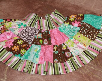 Patchwork Twirl Skirt - 3T/4T READY TO SHIP