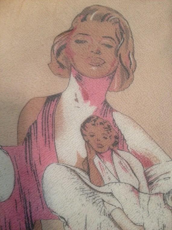 Reserved for Sam Vintage Marilyn Monroe Red Pop Print 80's Oblong Scarf