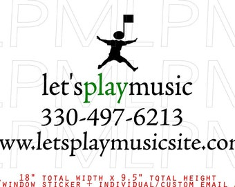 lets play music car window sticker web and phone