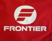 Vintage Frontier Airlines Flight Bag Vinyl Like New