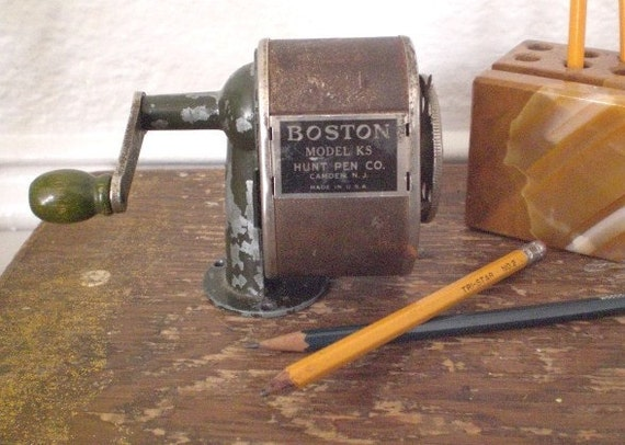 Vintage Boston Pencil Sharpener Model Ks