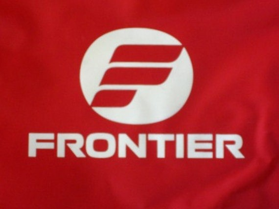 Vintage Frontier Airlines Flight Bag Vinyl Like New