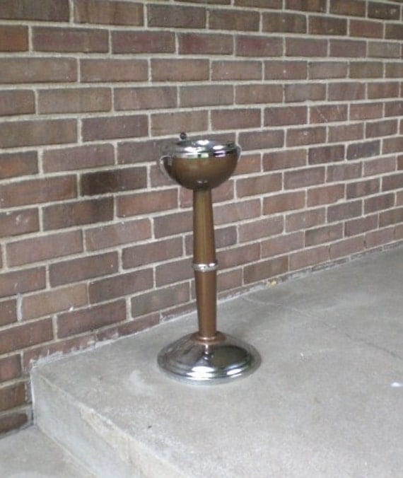 Vintage Floor Stand Up Ashtray