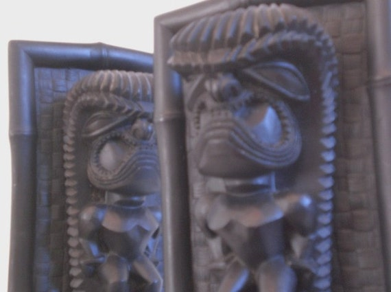 Vintage Hawaiian Lava BookEnds Coco Joe's