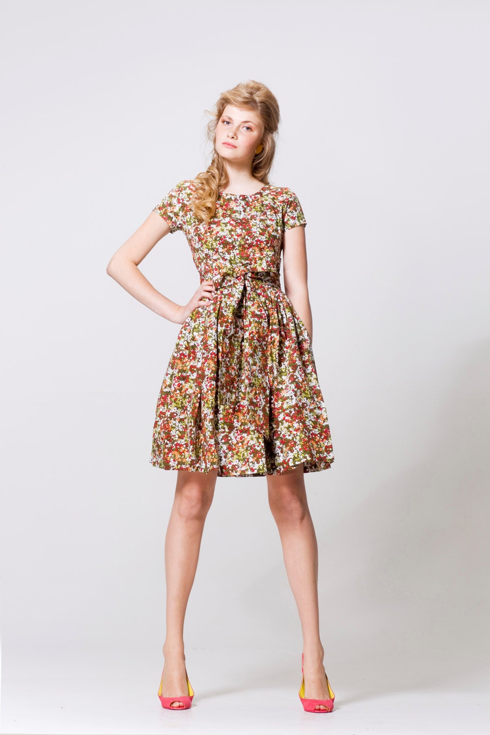 Summer meadow garden party dress xs s m for Garden party dresses