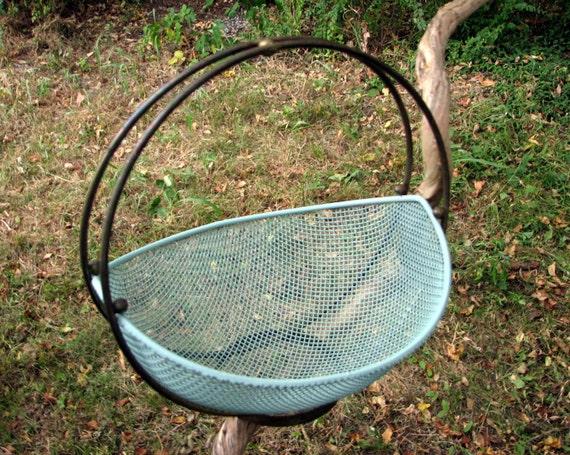 beautiful 1940's metal deco basket