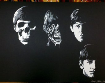 Brent Cheshire's Dead Beatles Print.  limited to 100 pieces signed and numbered