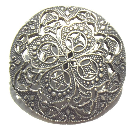 Lacy open work Antique metal button