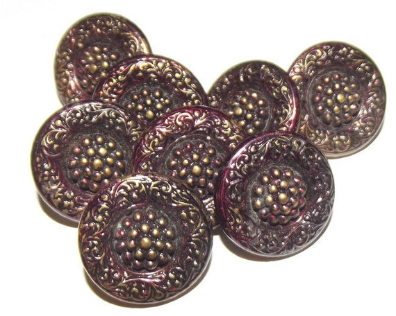Gorgeous deeply tinted antique button set